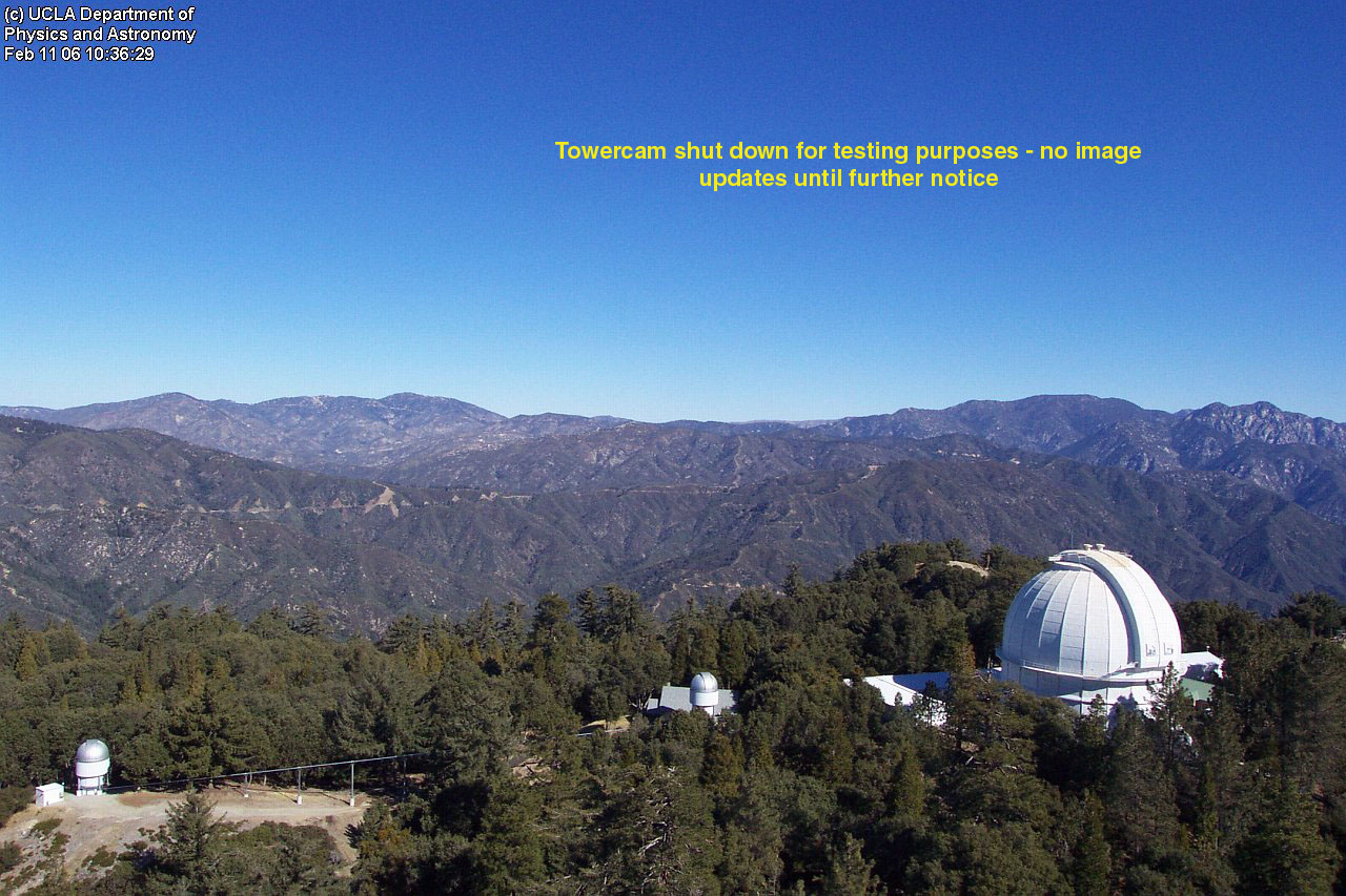 Live view from the Mt. Wilson Towercam in southern California